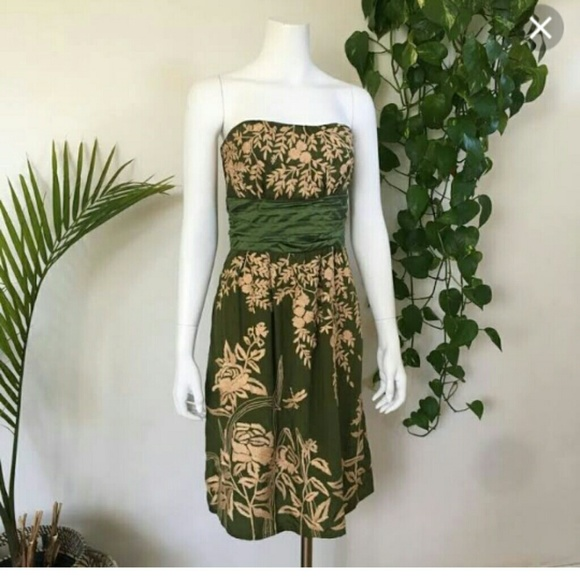 Tracy Reese Dresses & Skirts - Tracy Reese sz 6 Silk Embroidered Strapless Dress